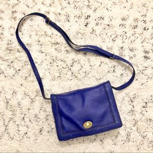 J Crew Tilley Royal Blue Crossbody 100% leather